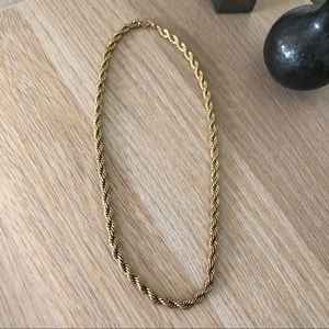 Vintage Chunky Gold Twist Chain Necklace